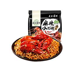 五谷道场麻辣小龙虾拌面五连包 新加坡本地发货