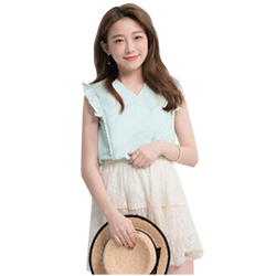 Yoco Lace Trimmed Blouse