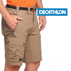Men's Mountain Trekking Shorts Trek 500 - Brown