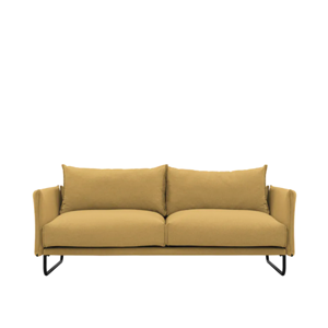 Frank 3 Seater Sofa - Mustard, Down Feathers