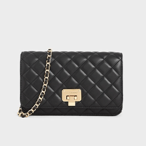Quilted Flip-lock Clutch