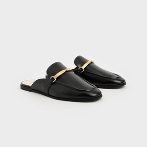 Metal Accent Slip-on Loafers