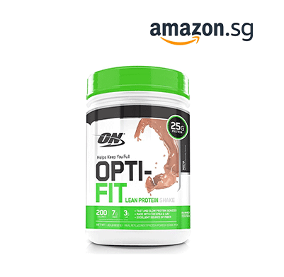 OPTIMUM NUTRITION Opti-Fit Lean Protein Shake, Meal Replacement Powder, Mocha