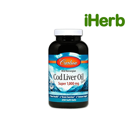 Carlson Labs, Wild Norwegian Cod Liver Oil Gems, Super, 1,000 mg, 250 Soft Gels
