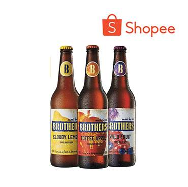 [Bundle of 12 x 500ml] Brothers English Cider Mixed Pack (Toffee Apple, Lemon & Wild Fruit)