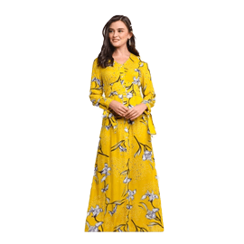 Lubna Tie Knot Sleeves Dress