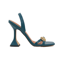 ASOS DESIGN Nardo barely there heeled sandals in teal