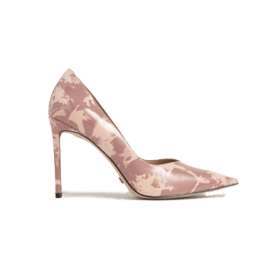 Patent Leather Printed Pointed Toe Pumps