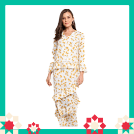 Lubna Mini Kurung With Flute Sleeves