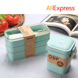 Healthy Material Lunch Box 3 Layer Wheat Straw Bento Boxes Microwave Dinnerware Food Storage Container Lunchbox