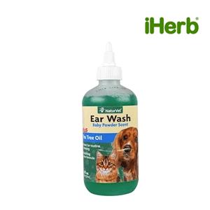 NaturVet, Ear Wash Plus Tea Tree Oil, Baby Powder Scent, 8 fl oz (236 ml)