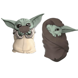 """Star Wars The Bounty Collection The Child Collectible Toys 2.2-Inch The Mandalorian """"Baby Yoda"""" Sipping Soup, Blanket-Wrapped Figure 2-Pack"""