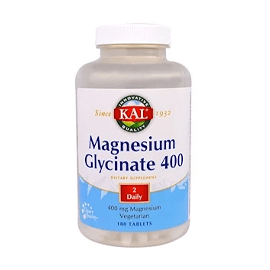 KAL, Magnesium Glycinate 400, 400 mg, 180 Tablets