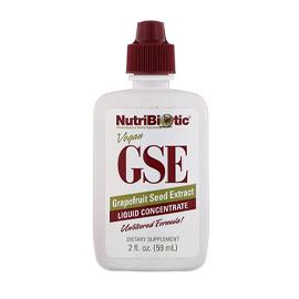 NutriBiotic, Vegan GSE Grapefruit Seed Extract, Liquid Concentrate, 2 fl oz (59 ml)