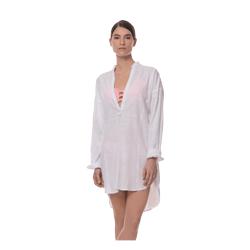 MILOS SHIRT DRESS - WHITE
