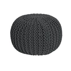 Moana Knitted Pouffe - Charcoal Grey