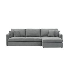 Ashley L-Shaped Lounge Sofa - Stone
