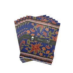Batik Blue Paper Gift Bag (Set of 6)