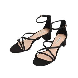 Satin Strappy Heeled Sandals