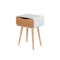 Albie Bedside Table - Natural, White (Code: SAVE15)