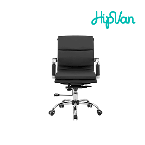 Eames Soft Pad Mid Back Office Chair - Black