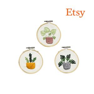 Mini Plants Embroidery Pattern