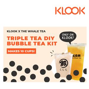 [Delivery- Klook Exclusive] The Whale Tea DIY Triple Tea Bubble Tea Kit in Singapore