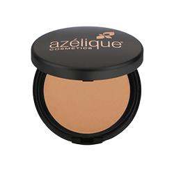 Azelique, Pressed Powder Satin Foundation, Tan-Deep, Cruelty-Free, Certified Vegan, 0.35 oz (10 g)