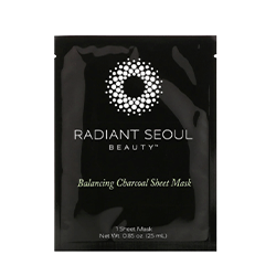 Radiant Seoul, Balancing Charcoal Sheet Mask, 1 Sheet Mask, 0.85 oz (25 ml)