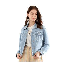 Blue Loose Denim Jacket