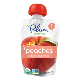 Plum Organics, Organic Baby Food, Stage 1, Just Peaches, 3.5 oz (99 g)