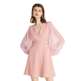 Tweed Mini Dress - Pink