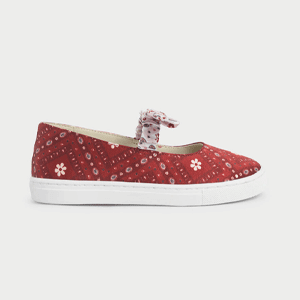 Summer 2020 Responsible Collection: Girls' Knotted Bandana Print Slip-on Sneakers